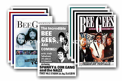 Bee Gees  - 10 promotional posters - collectable postcard set # 1