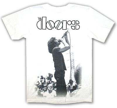 Doors Live Jim Morrison Stage Jumbo Image White T Shirt New Official Soft