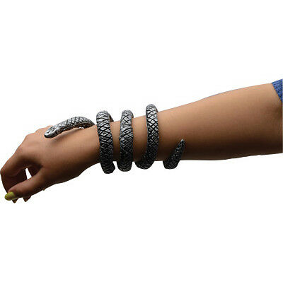 Snake Armband Bracelet Silver Colored Egyptian Adult Halloween Costume Accessory