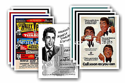 Dean Martin  - 10 promotional posters - collectable postcard set # 1