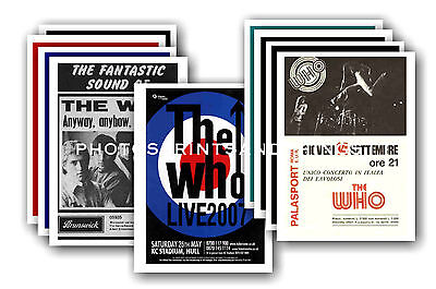 The Who  - 10 promotional posters - collectable postcard set # 1