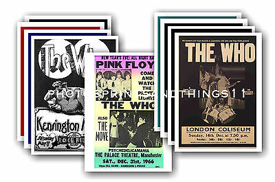 The Who  - 10 promotional posters - collectable postcard set # 3