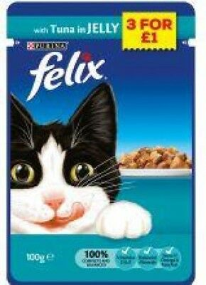 Felix Pouch Tuna - Wet Cat Food - 100g - Pack of 20
