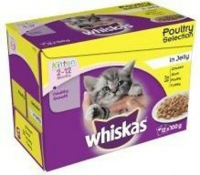 Whiskas Pouch Poultry Selection Chunks In Jelly Kitten - Wet Cat Food - 100g