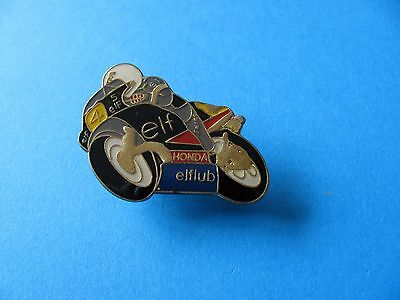 ELF HONDA Motorcycle Pin badge. VGC.