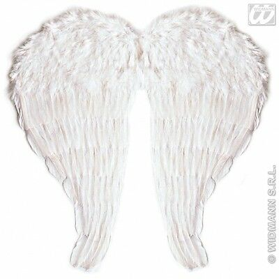 WHITE BENDABLE 51cm x 46cm FEATHER WINGS Accessory for Fairy Angel Fancy Dress