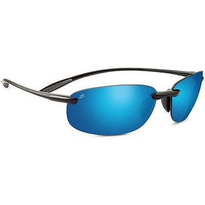 Serengeti Nuvino Sunglasses (Polar Phd 555Nm Blue Lens Shiny Black Frame)