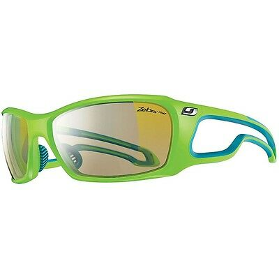Julbo Pipeline Sunglasses (Zebra Light Hard Lens Lime Green / Blue Frame)