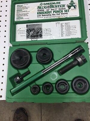 "Greenlee 7238BB Knockout Punch 1/2""-2"" Punches Are New Not Slugbuster"