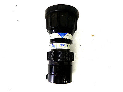 """TFT Task Force Tips Thunder Fog Fire Hose Nozzle 200GPM FT200 1.5"""" NH"""