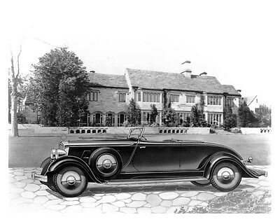 1933 Hupmobile Cabriolet Roadster Factory Photo uc1036
