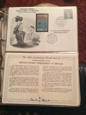 WWII HITLER OFFERS FRIENDSHIP TO BRITAIN Stamp Cover GB/Danbury Mint