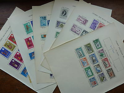 Gilbert & Ellice Is., 1939-1966 Complete Superb Used Stamp Colletion On Pages