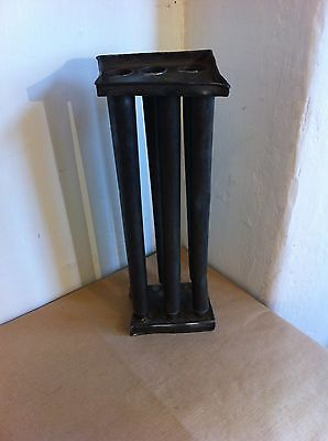 DECORATIVE 19th CENTURY TINWARE 6 CANDLE MAKER MOULD 11.5 by 4.2 inches