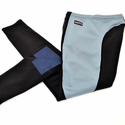 Kerrits CHILDS/KIDS Performance Riding Tights/Breeches - Platinum/Navy - SALE!