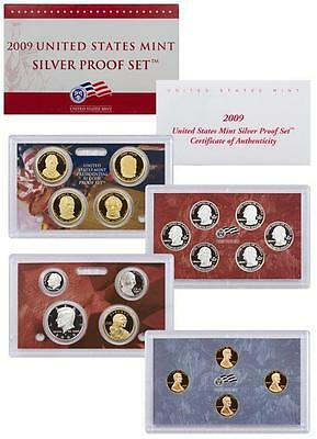 2009 S US Mint Silver Proof 18 Coin Set