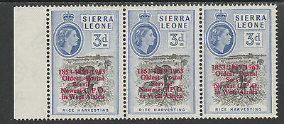 Sierra Leone 3910 - 1963 POSTAL  COMMEMORATION 3d VARIETY unmounted mint