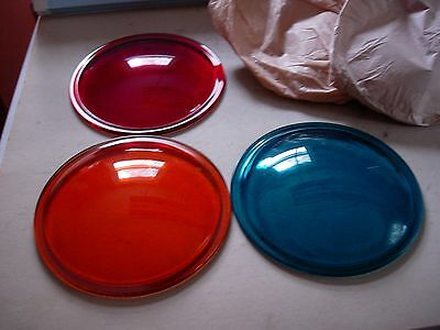 Set of Semaphore Lenses (3) Green - Amber - Red (new) (Glass)
