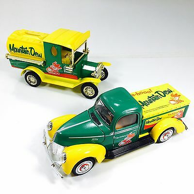 Mountain Dew Hillbilly 2 Die Cast Trucks Delivery Truck And Bank Special Edition