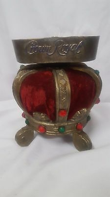 Vintage Brass and Red Velvet Crown Royal Bottle Stand