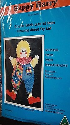 vintage craft Happy Harry craft kit for fabric clown doll making make a clown