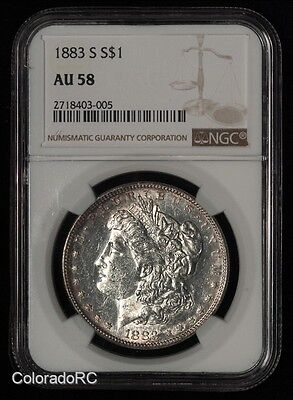 1883-S $1 Morgan Silver Dollar MSD - NGC AU 58 - Great Luster
