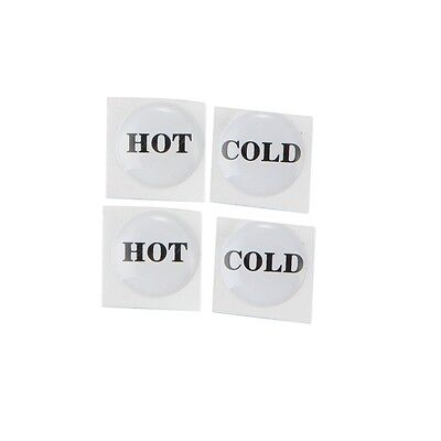 Tap button stickers hot & cold | Pack of 4 | Bathroom kitchen laundry taps
