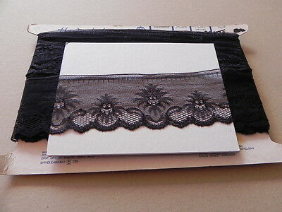 Card of New Wide Black Lace