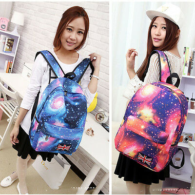Fashion Womens Girls Starry Shoulder School Bag Bookbag Backpack Travel Rucksack