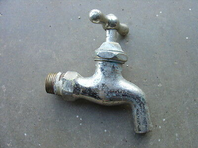 "Antique Nickel Plated ""Standard"" Faucet valve 1/2"" NPT"