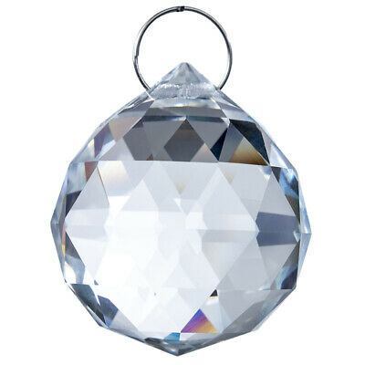 H&D Clear Chandelier Glass Crystals Lamp Prisms Parts Hanging Drop Pendant 40mm