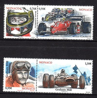 Monaco 2015 Racing Cars & Drivers 2 Pairs (4) MNH