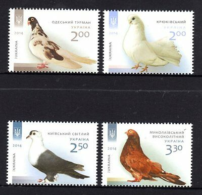 Ukraine 2014 Birds Set 4 MNH