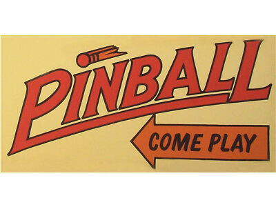 Bn0163 Pinball Amusement Come To Play Las Vegas Hyper Bright Exhibit Banner Sign
