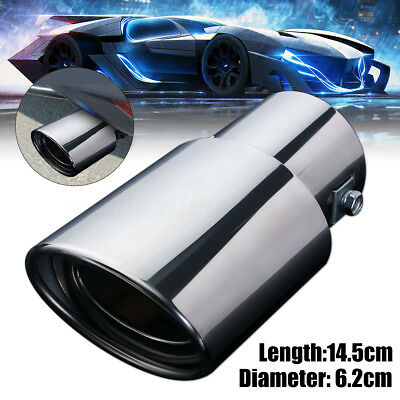 Rear Chrome Oval Exhaust Muffler Pipe Tip Kit Car Tail Stainless Steel Universal