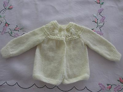 Vintage Baby knitted Jacket / cardigan Lemon,beautifully handmade,