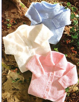 """Easy Stitches Baby Cardigan & Sweaters DK 12 - 24"""" Knitting Pattern"""