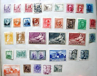 Selection Of Early Unsorted Spain Stamps