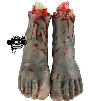 H&D Scary Bloody Fake Rubber Severed Body Part Foot Adult Size Halloween Prop
