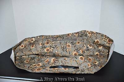 Longaberger Newspaper Over the Edge Liner in Khaki Floral #26964278 NEW