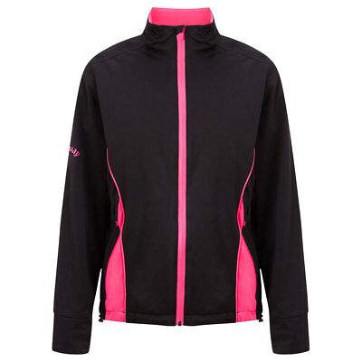 Callaway Waterproof Jacket with Two Year Guarantee in Black/Magenta