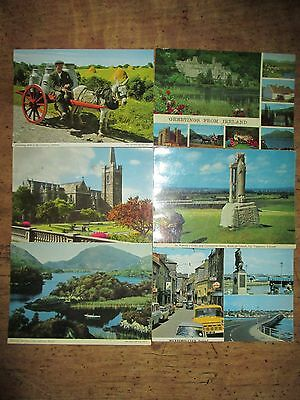 6 Colour Postcards from Ireland. 1960's/70's.