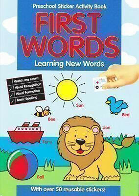 Pre-school Sticker Activity Book Learning First Words Learning to Read
