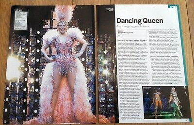 KYLIE MINOGUE Wembley Arena 2007 concert review 2  page UK ARTICLE / clipping