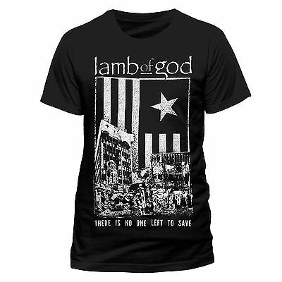 Lamb Of God T Shirt No One Left To Save Officially Licensed Mens Tee Rock Merch