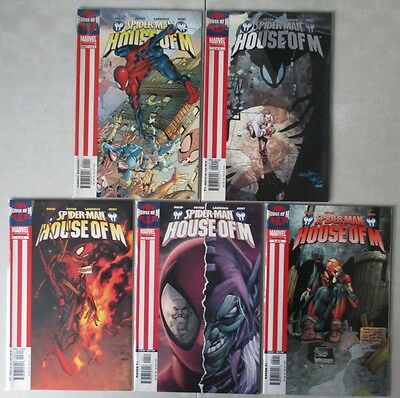 Spider-Man - House of M #1-5 Complete (5 Comics) VF-NM