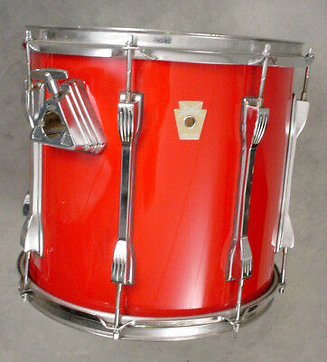90's LUDWIG CLASSIC 12x13 RED MACH LONG LUGS TOM DRUM RARE