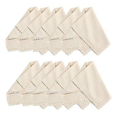 "10 Pack Microfiber Cleaning Cloth 6x7"" - For Eyeglass, Computer Screen, Jewelry,"