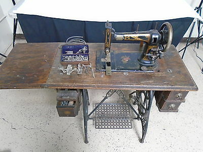 """Antique WHITE Trendle Sewing Machine """"FPOR""""  LOCAL PICKUP ONLY (500)"""