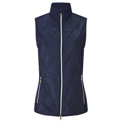 Callaway Ladies Lightweight Padded Gilet with Opti-Therm in Navy Blue